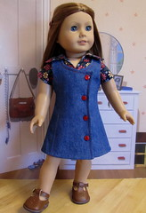1970's Denim Jumper and Shirt (Keepersdollyduds) Tags: shirt doll julie ivy clothes denim jumper 1970 1970s keepers americangirldoll keepersdollyduds