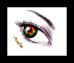 MEMOIRE (Maria Créations) Tags: maria galerie dessin oeil yeux couleur créations regard memoire
