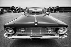 1962 Plymouth Belvedere (Anna Laviola Milo) Tags: white black classic canon photography angle muscle wide plymouth sigma style chrome american 7d belvedere motor mopar 1020mm 1962 fins santapod