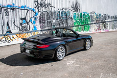 Porsche 997 Turbo S Cab (Dylan King Photography) Tags: canada black vancouver nikon bc top cab wheels stock 911 down s columbia turbo porsche topless brakes british rim cabriolet lug 997 convertable d90 9972 carbonceramic 18105mm