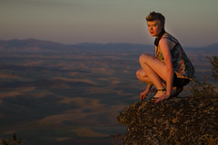 Becca (austinspace) Tags: statepark sunset portrait woman washington spokane dusk magichour steptoebutte