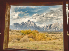 window with a mountain view (Marvin Bredel) Tags: wyoming jacksonhole grandtetonnationalpark marvinbredel