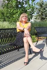 new92860-IMG_0209t (Misscherieamor) Tags: park tv sitting feminine cd chiffon tgirl transgender polkadots mature sissy tranny transvestite nailpolish crossdress ts gurl tg travestis travesti travestie m2f pleatskirt xdresser tgurl