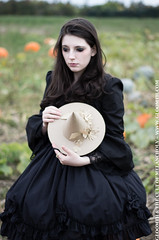 The Pumpkin Patch (gloomth) Tags: autumn fall halloween girl field pumpkin clothing witch farm pumpkins gothic goth patch autumnal witchy gloomth