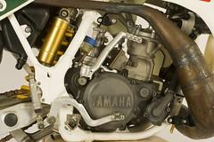 Pekka Vehkonen's 1988 Factory Yamaha YZ250 engine (Tony Blazier) Tags: race factory bikes works yamaha motocross supercross
