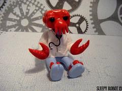 Zoidberg Robot (Sleepy Robot 13) Tags: cute robot diy handmade robots polymerclay fimo comicbook kawaii sculpey etsy urbanvinyl marvel sculpting smallbusiness sleepyrobot13 polymerclayurbanvinylsleepyrobot13etsysilvercraftcraftscraftingsculptingsculpturefigurinearthandmadecraftshowcutekawaiirobots