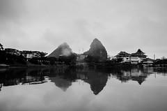 The Li River (rudy zain) Tags: china travel blackandwhite bw nature guilin photojournalism  travelphotography ljing nikond7000 rudyzain theliriver vision:mountain=0793