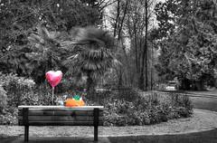 Forgotten (beelzebub2011) Tags: bw canada vancouver balloons britishcolumbia portmoody selectivecoloring