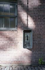 Communication (falseverdict) Tags: nyc newyorkcity newyork film analog 35mm fuji shadows centralpark manhattan rangefinder olympus xa2 payphone fujifilm 2013 fuji160s laurenpaljusaj