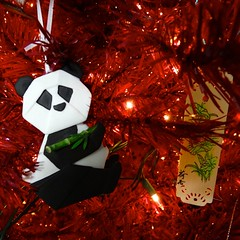Porcelain Origami: Panda 2 (The Flying Inn) Tags: christmas holiday tree paper origami panda decoration bamboo porcelain