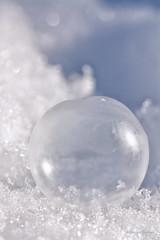 #81 Copycat  (48/52) (Keeperofthezoo) Tags: winter white snow cold macro seasonal bubble frozenbubble winterfrozen