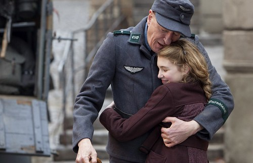 geoffrey rush and sophie nelisse THE BOOK THIEF