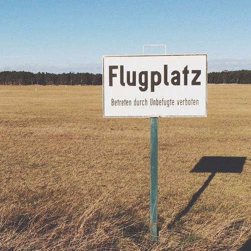 Flugplatz SignVerboten at FCC Berlin