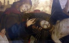 Pietà of Villeneuve-lès-Avignon, detail with John lifting thorns, c. 1455
