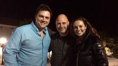Pablo, Flavio y Estefania en Miami