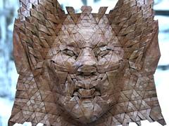 naga 2 (origami joel) Tags: face paper origami mask joel cooper tessellation origamijoel