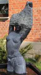 ´Be careful with your jeans - and with your skin!´;) (:Linda:) Tags: sculpture woman brick stone germany nude town clothing carving thuringia well hildburghausen womansculpture