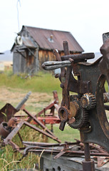Ancient Farm Equipment (Rebekahdg) Tags: travel oregon outside country farming traveling farmequipment trashed countrylife countryliving travelphotography easternoregon canonphotography outdoorphotography