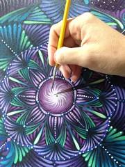 (JamieGaviola.art) Tags: art floral painting meditate acrylic mandala fractal portal oilpaint enlighten uploaded:by=flickrmobile flickriosapp:filter=nofilter jamiegaviola