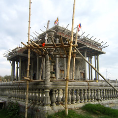 Cambodian Buddhist Temple (Hanna Ruth) Tags: nepal architecture construction asia southeastasia buddhism terai lumbini buddhistic cambodiantemple