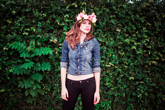(Isai Alvarado) Tags: street pink flowers sunset portrait urban woman cinema blur green film girl smile fashion wall movie 50mm model nikon focus dof arms legs bokeh stock cine lips hips cinematic softlight d800 50mm14g aysaa
