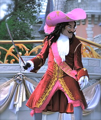 CAPTAIN HOOK (simongavin83) Tags: show street man male hat costume orlando florida disneyland performance performing streetphotography disney disneyworld pirate sword perform hook performer magickingdom performs waltdisney captainhook headwear disneycharacter