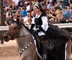 Mistress of Ceremonies (ksblack99) Tags: arizonarenaissancefestival joust mistressofceremonies