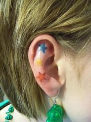 stars tattoo in ear (tattoos_addict) Tags: tattoo stars ear startattoo