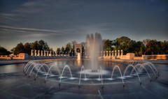 WWII Memorial, Washington DC (D. Scott McLeod) Tags: longexposure fountain sunrise dawn washingtondc dc districtofcolumbia nikon nationalmall wwiimemorial scottmcleod nikond800 dscottmcleod