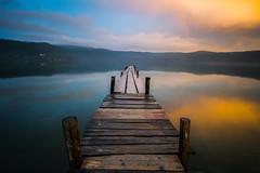 Golden sunset, with rainbow (luigig75) Tags: longexposure sunset italy lake roma canon lago italia tramonto 1022 lazio hoya dintorni albano castelgandolfo nd400 70d efs1022mmf3545usm romesurrounding