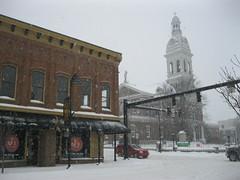 Nicholasville, Ky. (2-16-2015) (kaintuckeean) Tags: snow mainstreet kentucky courthouse blizzard jessamine nicholasville jessaminecounty