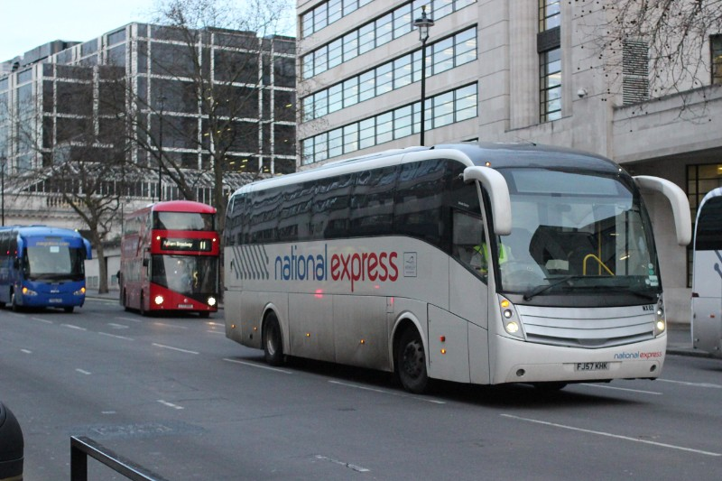 london exeter with national express megabus coach