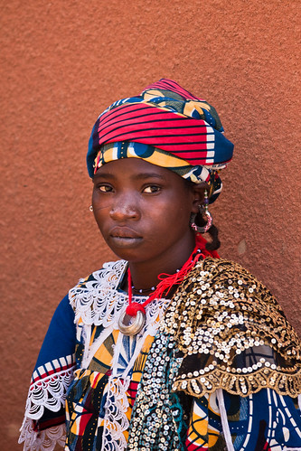 Portrait of a Bella girl in the market of Gorom Gorom, Burkina Faso