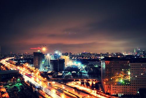 Ночной вид на Москву