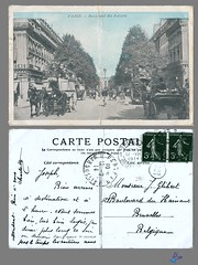 PARIS - Boulevard des Italiens (bDom) Tags: paris 1900 oldpostcard cartepostale bdom