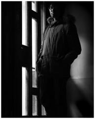Chiaroscuro (Katerina Toth) Tags: winter light boy portrait blackandwhite ontario canada cute london composite night composition contrast canon dark photography model shadows photoshoot monochromatic teenager grayscale fullframe chiaroscuro vignette 6d