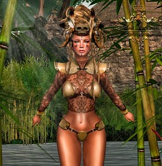 Warrior (Thyaralove exonar) Tags: carnival original 6 face tattoo female closet pose hair model war zoey aya skin sweet d sandy tail lies pony fantasy armor crown accessories rare voodoo gacha mjang {black} lollas hairboon lca518 vandiana tattookharna poseunholy