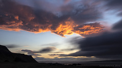 We made it through night and storm ... just ;) (lunaryuna) Tags: sunset sky storm weather bay coast iceland lunaryuna cloudformation stormclouds nightfall westfjords stormfront angrysky seekingshelter weathermood