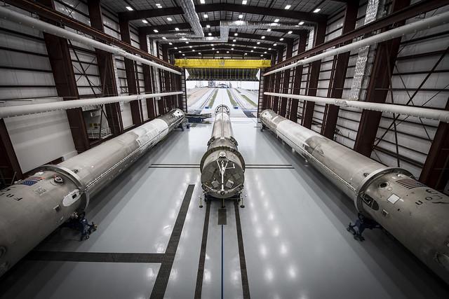 Landed rockets in hangar 39A