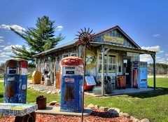Eclectic Collection (Tom Mortenson) Tags: usa wisconsin digital yard rural america canon vintage geotagged midwest unitedstates collection nostalgia northamerica americana roadsideattraction canoneos hdr smalltown memorabilia antigo gaspumps northcountry automobilia photomatix 24105l tonemapping antigowisconsin petroliana motormemorabilia langladecounty centralwisconsin canon6d