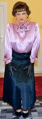 Birgit021984 (Birgit Bach) Tags: skirt button satin pleated faltenrock bowblouse schleifenbluse durchgeknpft