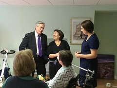 Visiting Leuchie House with Kezia Dugdale