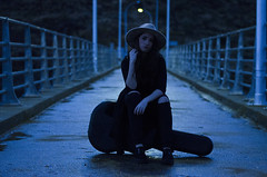 XII (Rubn T.F.) Tags: blue winter portrait music woman cold girl rain night
