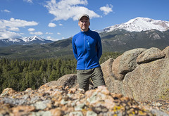 28 May 16 Cascade Mountain Self-Timer (ethanbeute) Tags: selfportrait forest self colorado hiking hike snowcapped trail coloradosprings summit cascade pikespeak selftimer utepass pikenationalforest heizertrail