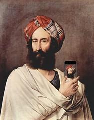 The Levite of Ephraim Takes a Selfie, after Francesco Hayez (Mike Licht, NotionsCapital.com) Tags: men art paintings mobilephones selfies francescohayez iphones anchronism leviteofephraim