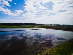 Aqua Pastoral (H.H. Mahal Alysheba) Tags: blue sky cloud water japan landscape lumix wide pastoral fukushima lumixg 714mmf40 gx7