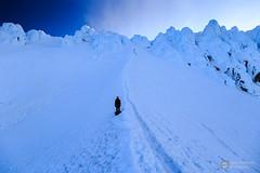 Ascent (Dan Sherman) Tags: sky mountain snow mountains ice oregon volcano us unitedstates extreme mountainclimbing peak climbing alpine crater mthood mountaineering pacificnorthwest hood pnw epic mounthood hogsback wyeast climbingmthood