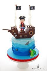Pirate Cake (Little Cottage Cupcakes) Tags: birthday blue cake canon ship pirate crocodile sail sharks pirateship fondant piratecake pirateshipcake sugarpaste skullsandcrossbones littlecottagecupcakes