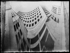 Hotel for demolition (batuda) Tags: architecture paper hotel cityscape wideangle pinhole d76 180 universal kaunas anamorphic cylindrical filmbox anamorph karaliausmindaugo viebutis respublikos