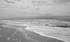 Seascape (schreibtnix off for a while) Tags: sea sky bw travelling beach netherlands clouds strand landscape reisen meer himmel wolken wave sw breakers landschaft welle niederlande brandung callantsoog olympuse5 schreibtnix